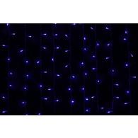 Эл. штора уличная 625 LED 2,5*1,5м синяя, чер.шнур (RB-OLDCL625-TB-E)