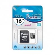 Карта памяти microSDHC SmartBuy 16Gb Class 10 UHS-l с адаптером
