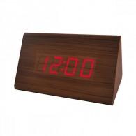 "Часы электронные Perfeo ""Trigonal"" крас.цифры, кор.корпус (темп.буд., 3*ААА)"