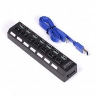 Хаб USB SmartBuy (SBHA-7307) 7 портов с выключателями (3.0)