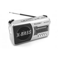 Радиоприемник XB-591 (USB/SD/FM) серебро Waxiba