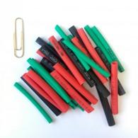 Термоусадка набор (3мм зел.12шт, 4мм крас., 4мм чер. по10шт)
