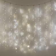 Эл. штора 140 LED белая, 1,5х1м белый. шнур