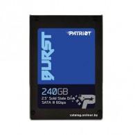 Внутренний диск SSD Patriot 240Gb 2.5'', SATA-III (PBU240GS25SSDR)