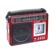 Радиоприемник XB-531С (USB/SD/FM) красный Waxiba