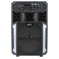 "Колонка портативная 8"" BT-10 (Bluetooth/USB /microSD) черная"