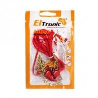 Наушники Eltronic красные вакуумные (4439)