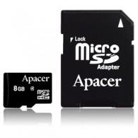 Карта памяти microSDHC Apacer 8GB Class 4 с адаптером