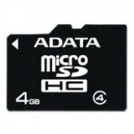 Карта памяти microSDHC ADATA 4GB Class 4 без адаптера