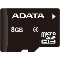 Карта памяти microSDHC ADATA 8GB Class 4 без адаптера