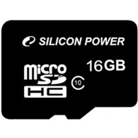 Карта памяти microSDHC Silicon Power 16Gb Class 10 UHS-1 без адаптера