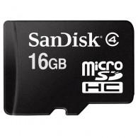 Карта памяти microSDHC SanDisk 16Gb Class 4 без адаптеров