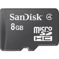 Карта памяти microSDHC SanDisk 8Gb Class 4 без адаптеров