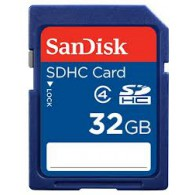 Карта памяти SDHC SanDisk 32Gb Class 4