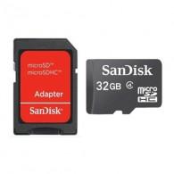 Карта памяти microSDHC SanDisk 32Gb Class 4 с адаптером