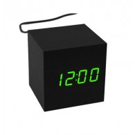 Часы настольные VST-869-4 зел.цифры, чер.корпус (дата, темп., будильник,4*ААА)