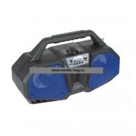 Колонка портативная ZQS-4216 (Bluetooth/USB /microSD/FM/дисплей/подсв синяя