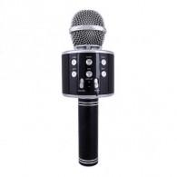 Микрофон со встр.колонкой для караоке (microSD, Bluetooth) WS-858 черный