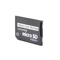 Карта-адаптер с microSD на Memory Stick Pro Duo
