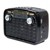 Радиоприемник HN-283 (Fm/USB/microSD/акб/фонарь/PowerBank) черный Haoning