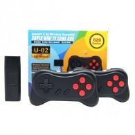 Игровая приставка Dendy Stick U-02 8bit с беспроводными геймпадами (620 игр)