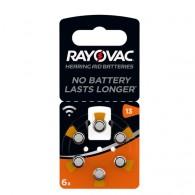 Батарейка Rayovac ZA13 BL6/60