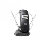 Антенна комнатная активная Эфир SE-878 +часы (усы 80см, кабель 1м, с регул)