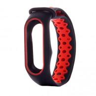 Ремешок для фитнес-браслета Mi2 черно-крас