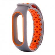 Ремешок для фитнес-браслета Mi2 серо-оранж
