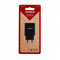 Адаптер 220V->USB 2.1A Горизонт SC-21C