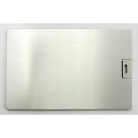 Флэш-диск под нанесение 4Gb Кредитная карта алюминиевая серебро (U504ЕМ)