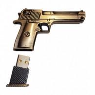 Флэш-диск 16Gb Usb2.0 Пистолет металлический (UM-9002A)
