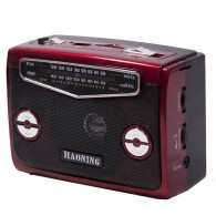 Радиоприемник HN-310UAT (Fm/USB/microSD/фонарь/акб/2*R20/220V) крас Haoning