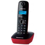 Телефон беспроводной Panasonic KX-TG1611 RUR черно-красный