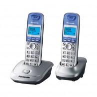Телефон беспроводной Panasonic KX-TG2512 RUS(2 трубки) серебро