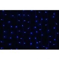 Эл. штора уличная 925 LED 2,4*3м синяя, прозр.шнур (OLDCL925-TB-E)