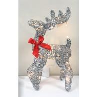 """Фигура новогодняя """"Сверкающий олень"""" малая со светод.подсветкой 35см"""