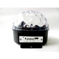 Диско-шар разноцветный Полусфера большая(USB, SD,Bluetooth,220V) (Р)