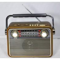 Радиоприемник М-180ВТ (Bluetooth/USB/microSD/Fm/AUX/акб) золото Meier