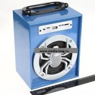 Колонка портативная KTS-639Dch (USB\microSD\Bluetooth) синяя