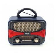 Радиоприемник MD-1903BT (Bluetooth/USB /SD/microSD/FM/акб/4*R20) синий Kemai
