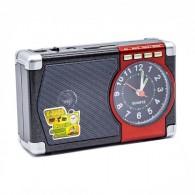 Радиоприемник М-201U (USB/microSD/AUX/акб 18650/часы) красный Meier