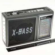 Радиоприемник RX-177Led (USB+microSD/фонарь) серый