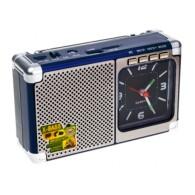 Радиоприемник М-202U (USB/microSD/AUX/акб 18650/часы) синий Meier
