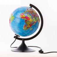 Глобус с подсветкой 21см физико-полит карта с рельефом (1259378)