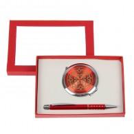 Подарочный набор (ручка+зеркало) (1456473)