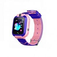 Smart-часы детские с GPS трекером Q12 (син\роз)