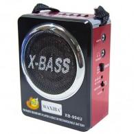 Радиоприемник XB-904 (USB/SD/FM) красный Waxiba