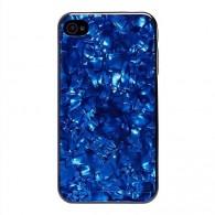 Чехол для iPhone 4 синий перламутр