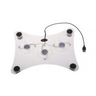 Подставка-вентилятор для ноутбука 3 кулера CP-832 (30х23см) (557209)